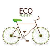 eco friendly environmental label vector illustration design